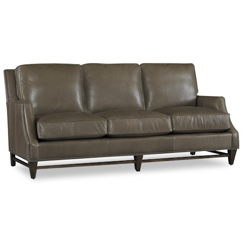 Bradington Young Stationary Seating Madigan Stationary Chippendale Sofa