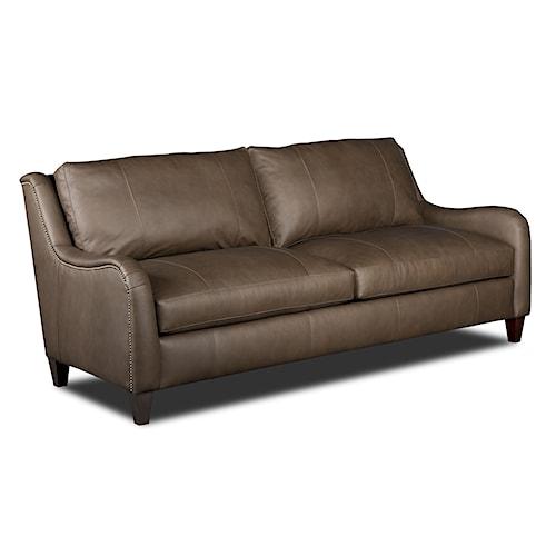 Bradington Young Gianna 252 Transitional Sofa with English Arms