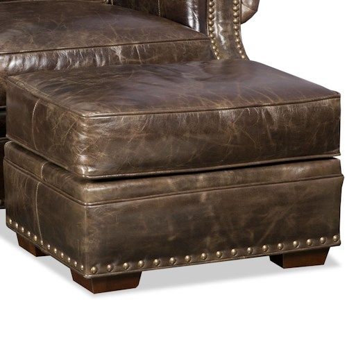 Bradington Young Jude Ottoman with Nailhead Trim
