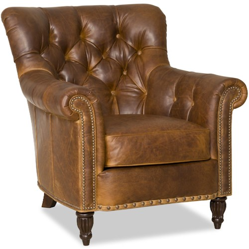 Bradington Young Kirby Classic Tufted Reading Chair