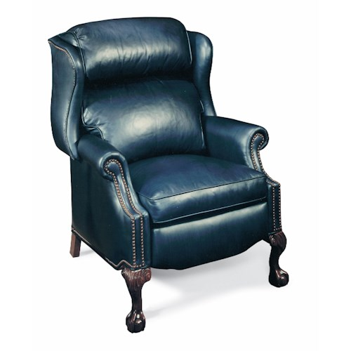 Bradington Young Presidential Traditional Reclining Wing Chair W/Brass Nails