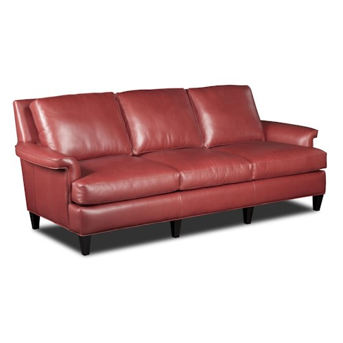 Bradington Young Rylan Contemporary Leather Sofa
