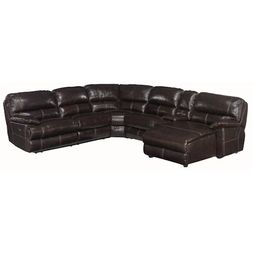 Hooker Furniture SS606 6 Piece Right Corner Sectional