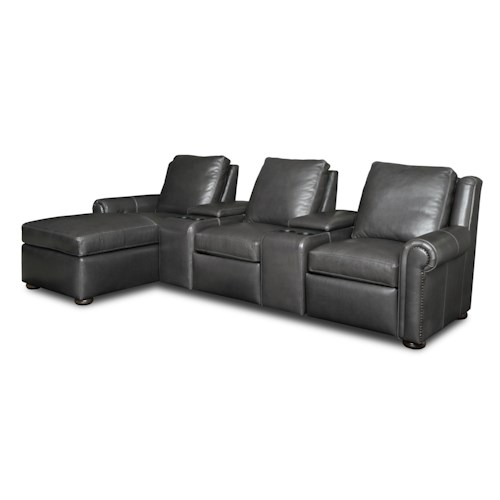 Bradington Young Whitaker Five Piece Reclining Home Theater Group