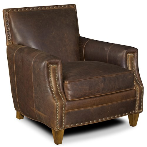 Bradington Young Wykeham Stationary Chair 8-Way Tie w/ Nailhead Trim