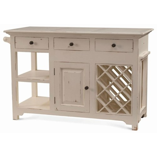 Bramble Aries Napa Kitchen Island with Pullout Table