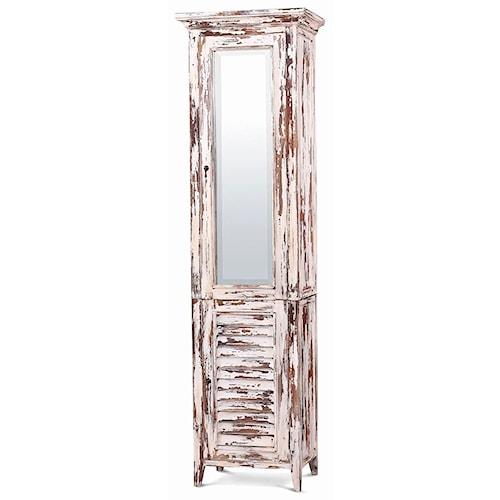 Bramble Aries Shutter Tall Bath Cabinet w/ Mirror