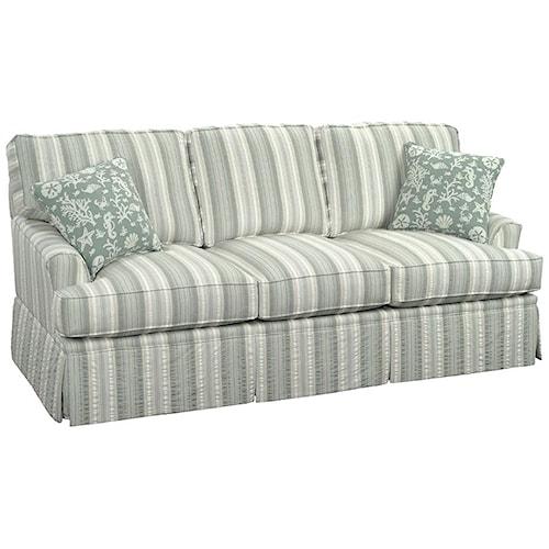 Vendor 10 678 Casual Westport Sofa with Traditional Kick Skirt