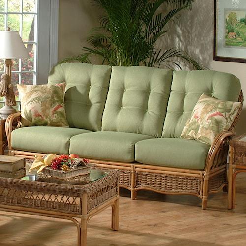 Vendor 10 Everglade Tropical Rattan Sofa