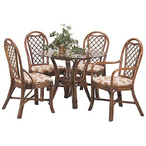 Vendor 10 979 Five Piece Trellis Table and Chair Set