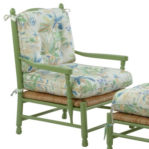 Vendor 10 Accent Chairs Coastal Style Vineyard Accent Chair with Loose Attached Cushions
