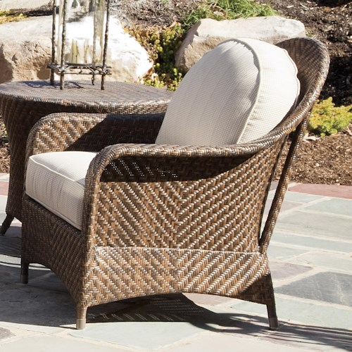Braxton Culler Retreat Outdoor Club Chair w/ Rounded Back