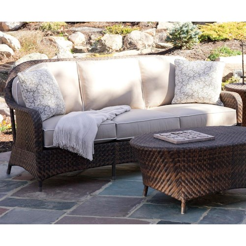 Vendor 10 Belle Isle Outdoor Sofa w/ Rounded Back
