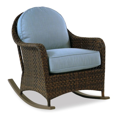 Braxton Culler Retreat Outdoor Woven Rocker w/ Rounded Arms