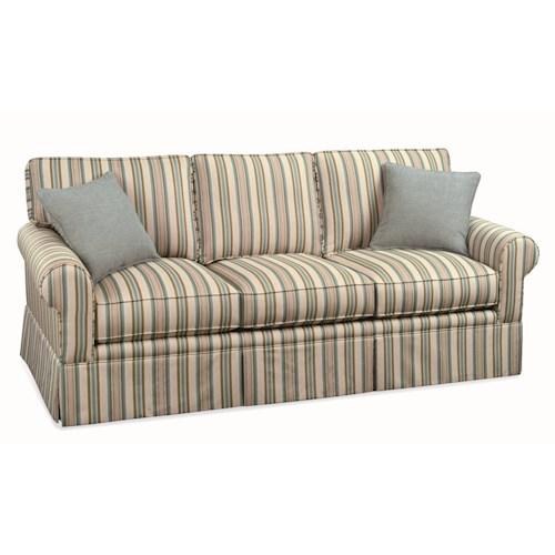 Vendor 10 Benton Casual Three Seater Sofa with Rolled Arms and Skirt