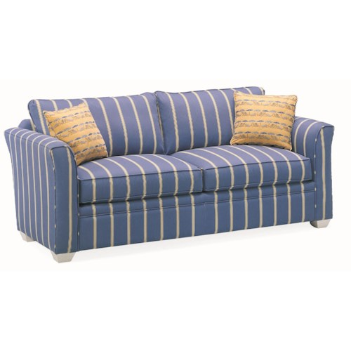 Vendor 10 Bridgeport Casual Two Person Stationary Sofa with Exposed Wood Feet