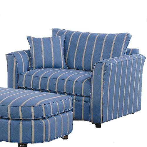 Vendor 10 Bridgeport Casual Chair and a Half with Sleeper Mechanism