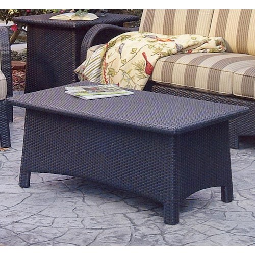Vendor 10 Brighton Pointe Rectangular Woven Cocktail Table