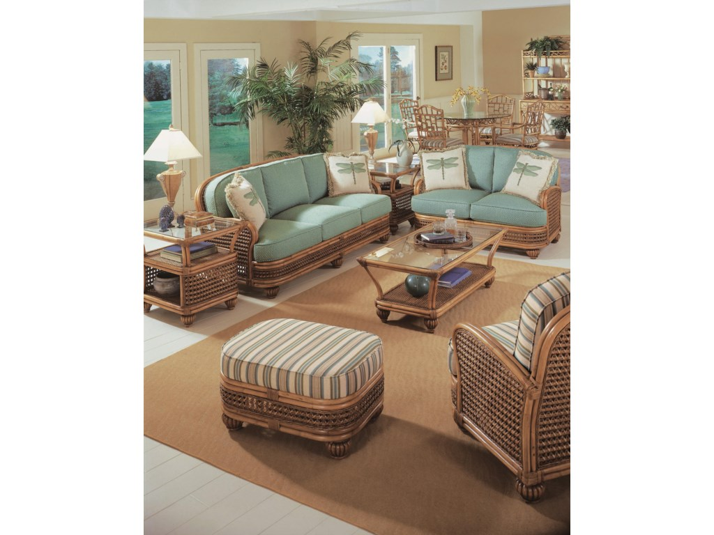 Shown with Ottoman, Sofa, Coffee Table, and Loveseat
