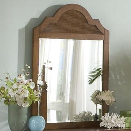 Vendor 10 Palmetto Place Tropical Mirror with Wood Slat Detailing