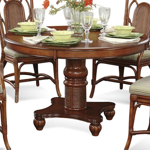 Vendor 10 Palmetto Place Tropical Round Pedestal Dining Table