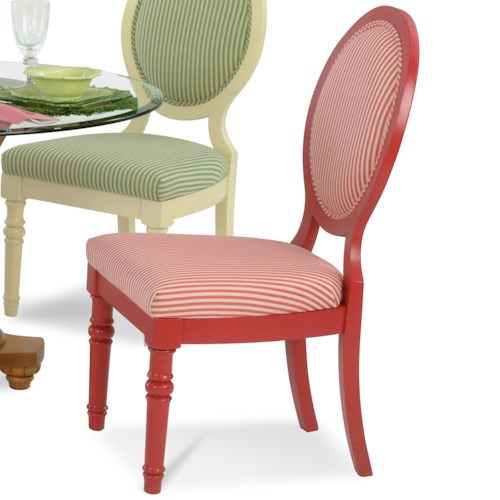 Vendor 10 Sawgrass Tropical Oval Backed Side Chair with Rattan Detailing