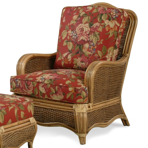 Vendor 10 Shorewood Tropical Rattan Chair with English Arms