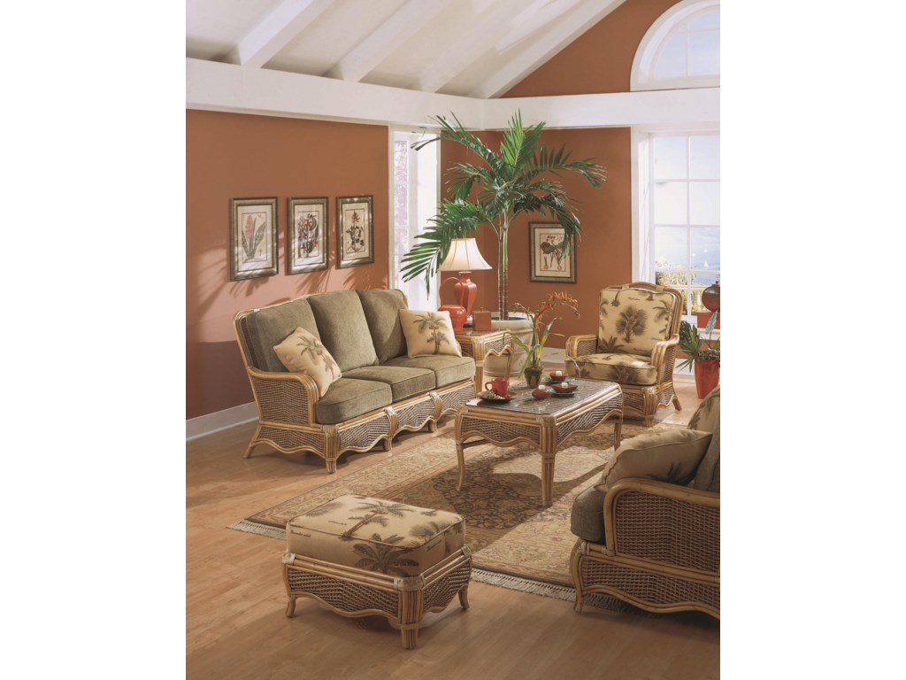 Shown with Ottoman, Sofa, Coffee Table, and Rocker