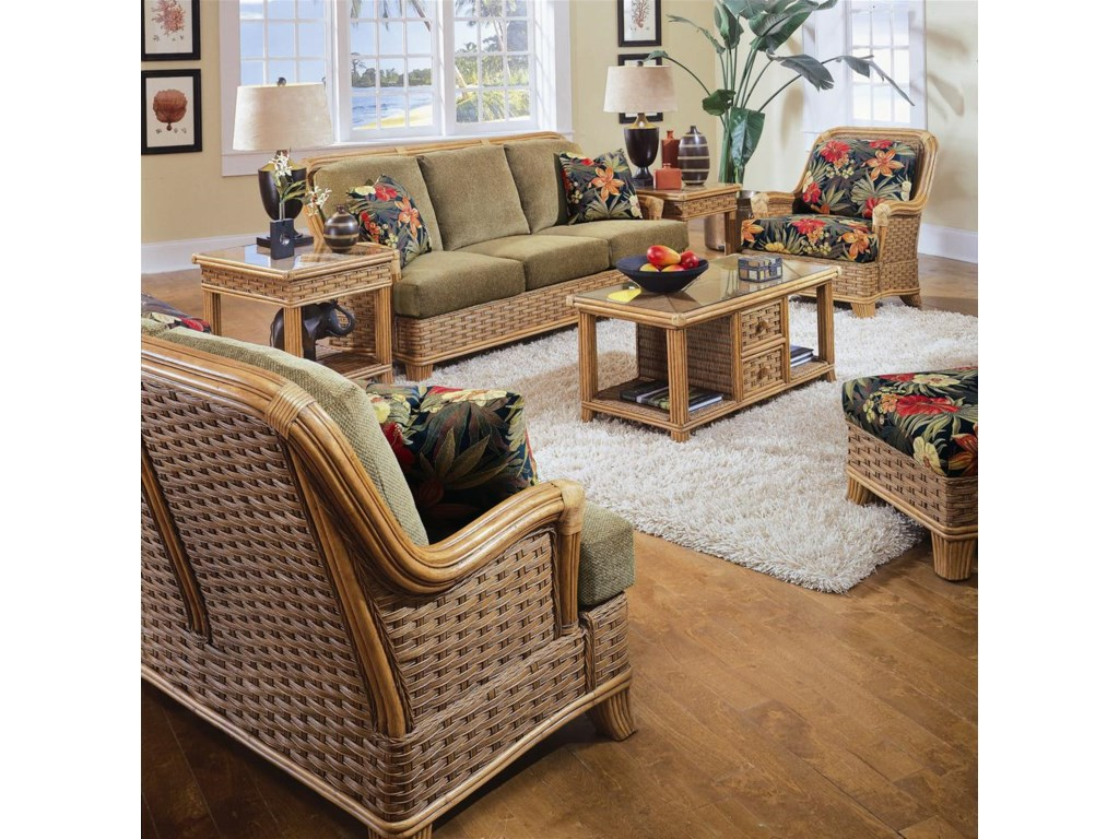 Shown with Two End Table, Sofa, and  Chair