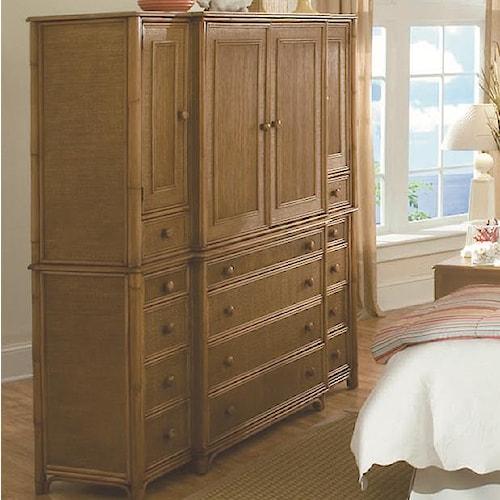 Vendor 10 Summer Retreat Tropical Twelve Drawer Dresser with Four Doors
