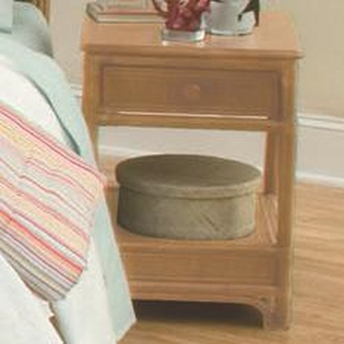 Vendor 10 Summer Retreat Tropical Nightstand with One Drawer