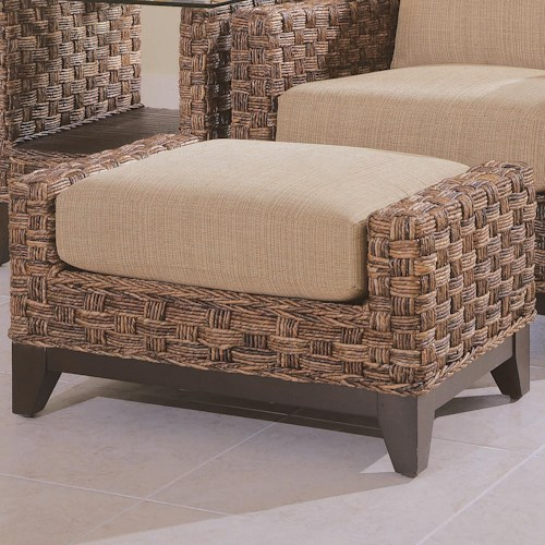 Vendor 10 Tribeca 2960 Rectangular Ottoman with Wicker Base