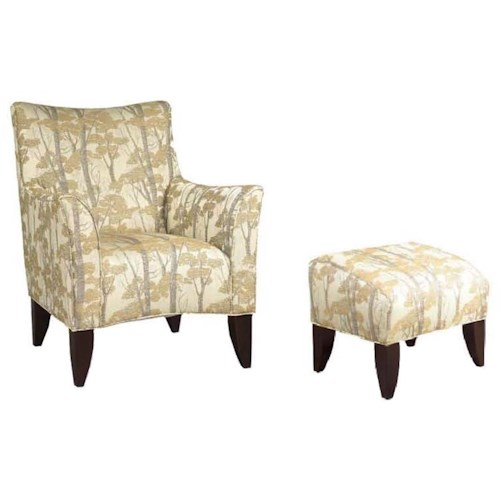 Brentwood Classics 147 Contemporary Chair and Ottoman with Nature Themed Furniture Style