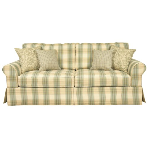 Brentwood Classics 5780 Stationary Sofa with Rounded Arms and Casual Skirt