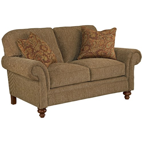 Broyhill Express Larissa Quick Ship Traditional Loveseat with Rolled Arms