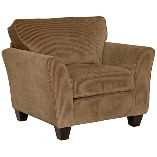 Broyhill Express Maddie Contemporary Upholstered Arm Chair with Flared Arms