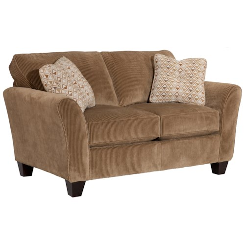 Broyhill Express Maddie Contemporary Loveseat with Flared Arms