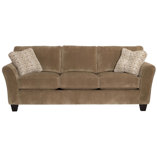 Broyhill Express Maddie Quick Ship Sofa with Flared Arms