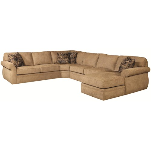 Broyhill Express Veronica Quick Ship Sectional Sofa Group with Wedge & Right Chaise