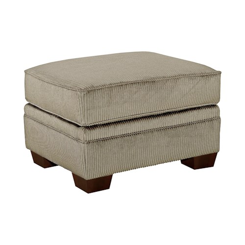 Broyhill Express Zachary Rectangular Ottoman with Tapered Wood Feet