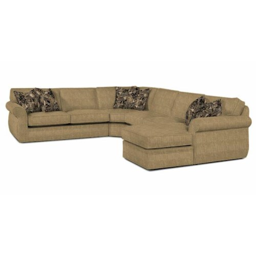 Broyhill Furniture Veronica Right Arm Facing Customizable Chaise Sectional