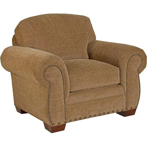 Broyhill Furniture Cambridge Casual Style Chair with Nail Head Trim