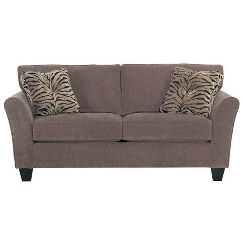 Broyhill Furniture Maddie Two Seat Apartment Sofa with Contemporary Flared Arms