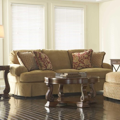 Broyhill Furniture McKinney Skirted Sofa