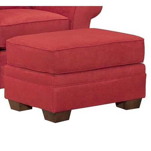 Broyhill Furniture Zachary Ottoman with Exposed Wood Feet