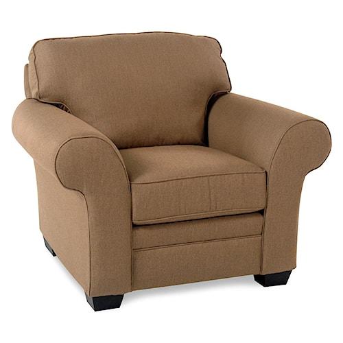 Broyhill Furniture Lagoona Roll Arm Chair w/ Sunbrella Fabric