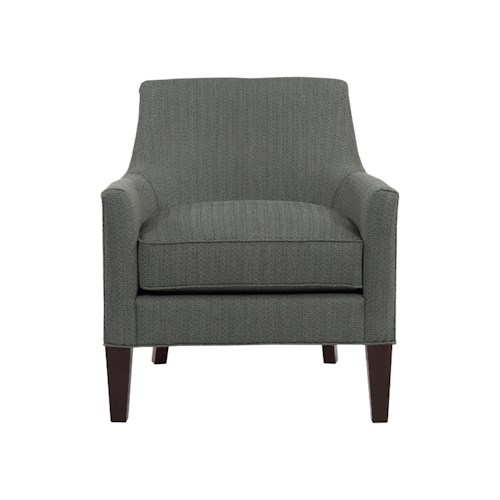 Broyhill Furniture Accent Chairs and Ottomans  Lorenzo Bucket Lounge Chair with Fresh Modern Style