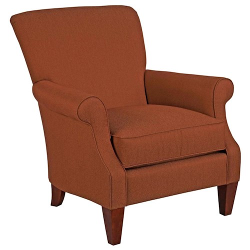 Broyhill Furniture Accent Chairs and Ottomans  Jordan Traditional Styled Chair with Classic Round Arms