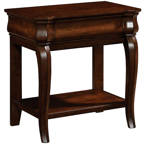 Broyhill Furniture Aryell Night Table with Queen Anne Legs