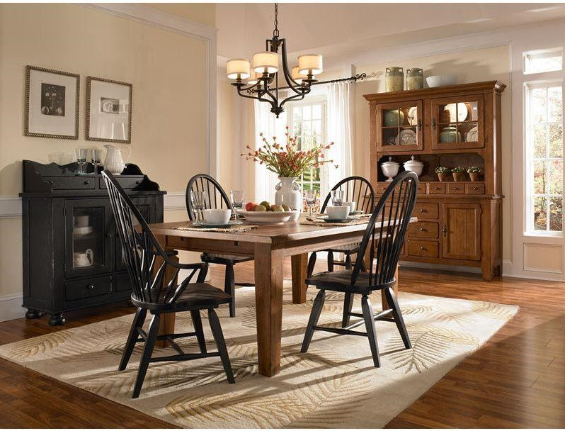 Shown with Rectangular Leg Table, Windsor Arm Chair and Buffet/Hutch